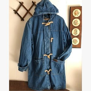 Vintage Denim Toggle Coat